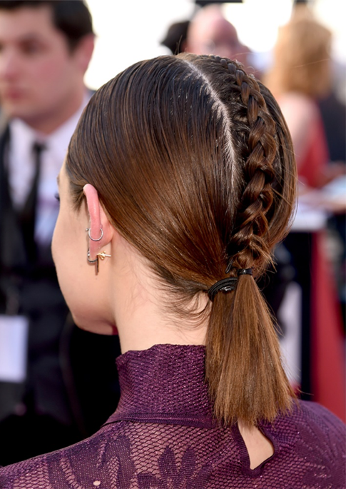 center part braid