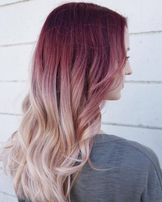 Berries and cream colored hair