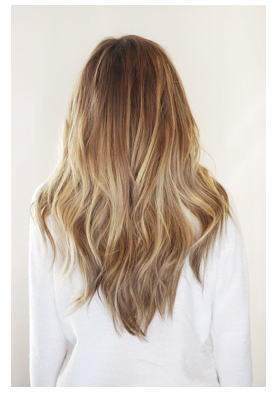 Melted gold balayage