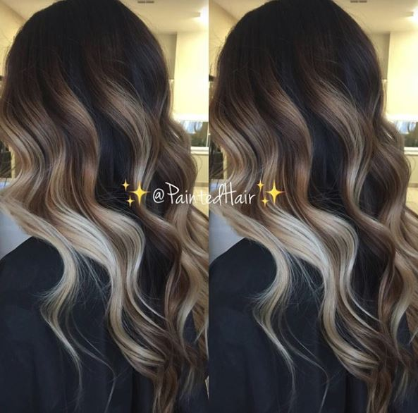 ecaille balayage hair