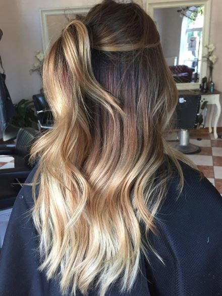 color melt balayage hair