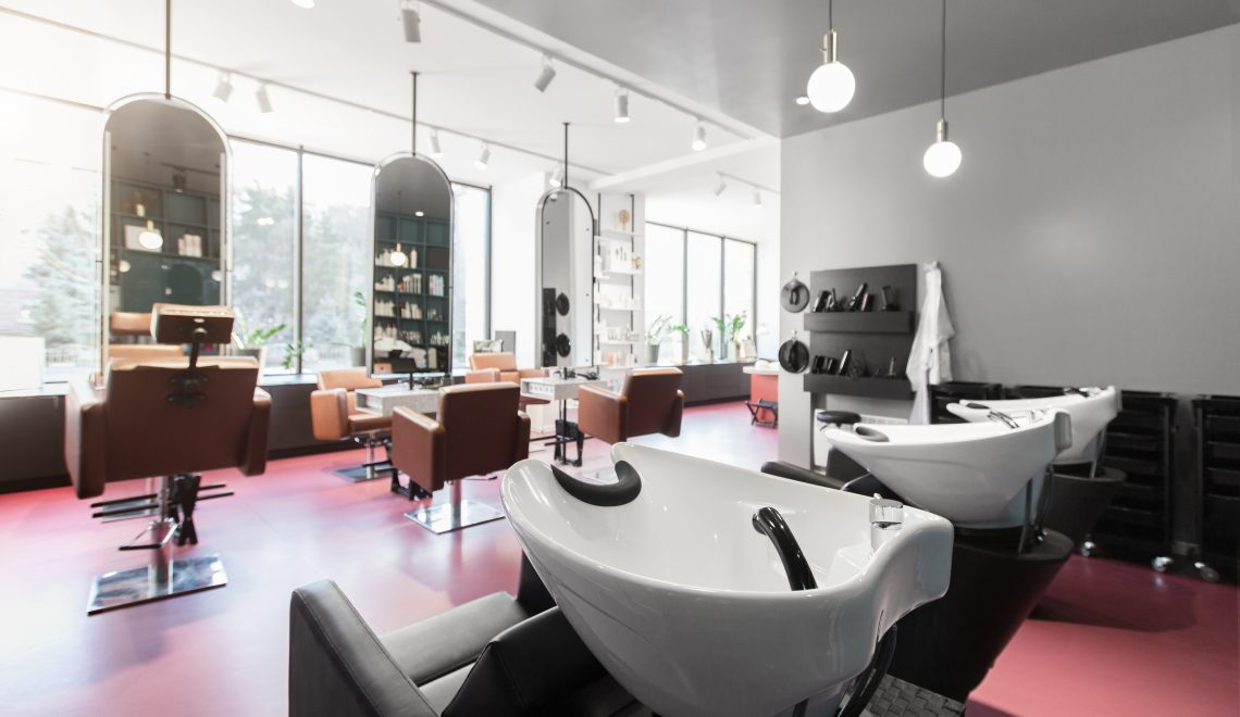 Hair salon and make up store, modern light interior